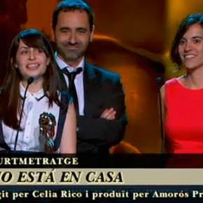 Luisa no está en casa premio al mejor cortometraje en los Premios Gaudí